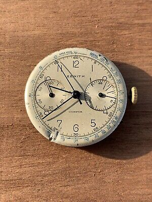 $ CDN988.20 • Buy Zenith Cal 156 Chronograph Movement Not Working For Parts Repair Vintage Watch