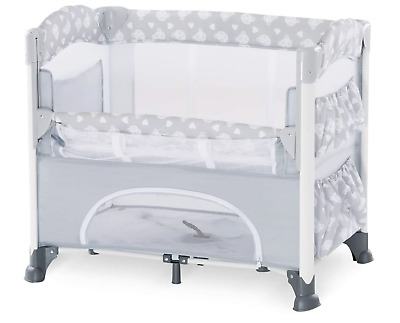 £80.95 • Buy Baby Drop Side Cot Newborn Bedside Travel Co Sleeper Compact Foldable Storage