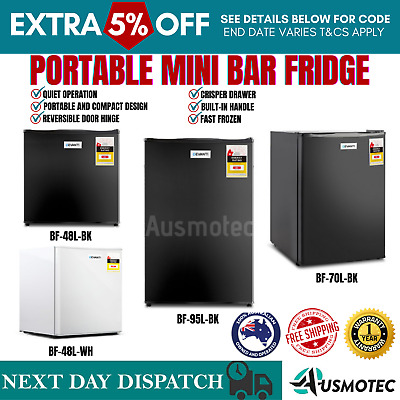 AU199.71 • Buy New Mini Small Bar Fridge Freezer Drinks Beer Camping Cool Portable Refrigerator