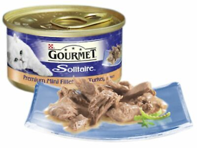 Gourmet Solitaire Can Premium Fillets Turkey In Sauce 85g (Pack Of 12) • 16.30£