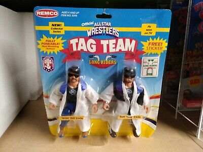 $ CDN253.73 • Buy Vintage 1985 REMCO AWA The Long Riders WRESTLING ACTION FIGURE Tag Team MOC