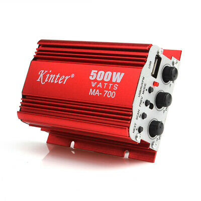 $18.96 • Buy MA-700 500W Car Motorcycle 2CH Audio AMP Amplifier Support USB MP3 FM Input
