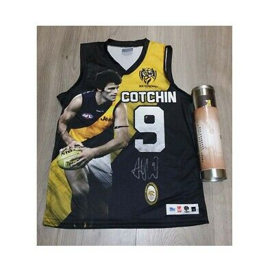 AU250 • Buy Richmond Trent Cotchin Official Afl Signed Limited Player Picture Jumper