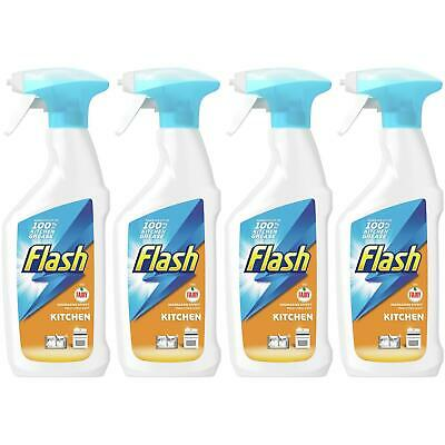 4 X Flash With Fairy Kitchen Spray 450ml, Degreasing Effect, Fresh Citrus Scent • 7.75£