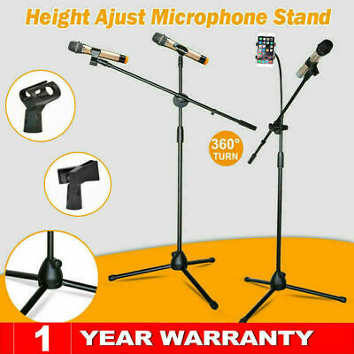 £10.79 • Buy 360° Rotating Microphone Stand Dual Mic Clip Boom Arm Foldable Tripod Adjustable