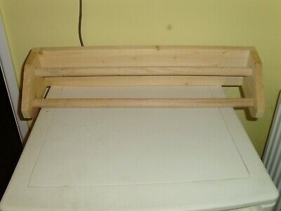£6 • Buy Solid Pine Double Wall Mounted Towel Rail/holder-as New.