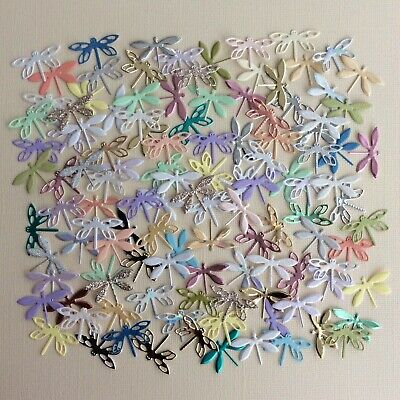 £1.60 • Buy *~*Small Dragonfly Die Cuts X 50 Mixed Colours And Card*~* Set 3...Fairy Jars