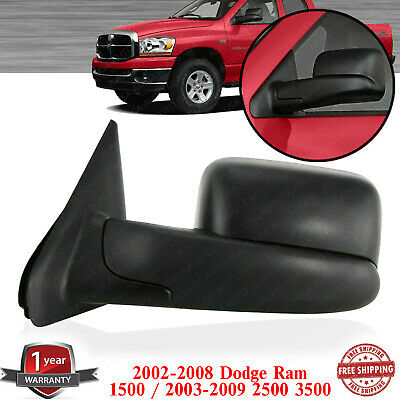 $130 • Buy Left Side Towing Mirror Textured For 2002-2008 Dodge Ram 1500 / 03-09 2500 3500