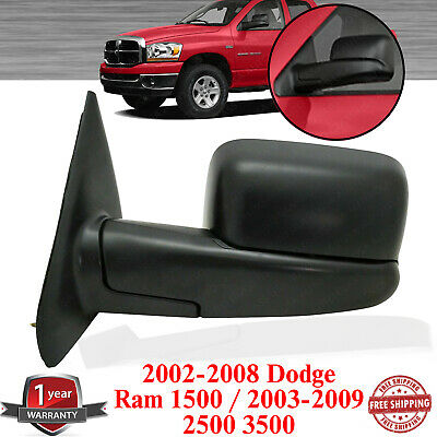 $72 • Buy Left Side Towing Mirror Textured For 02-08 Dodge Ram 1500 / 2003-2009 2500 3500