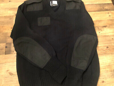 $27 • Buy Military Equipment Mehlin Estey Sweater Elbow Patch Pullover V Neck Black XL