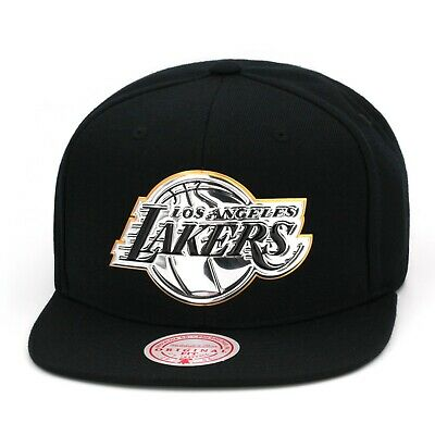 Mitchell & Ness Los Angeles LA Lakers Snapback Hat Black/Silver Patent Leather • 23.53£