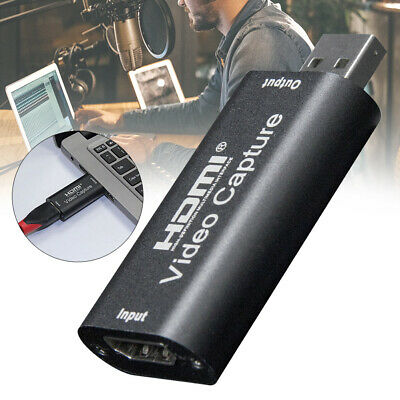 Playback Game Record Live Streaming Adapter Video Capture Card HDMI To USB • 11.22£