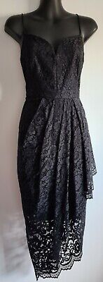 AU49.95 • Buy Stunning Forever New Black Lace Dress Size 8