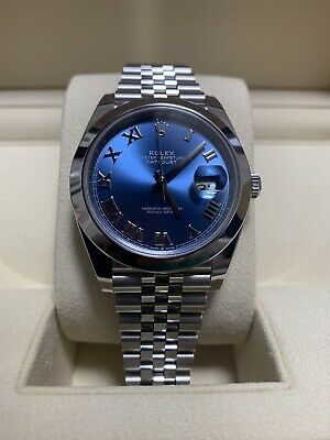 $ CDN12092.83 • Buy Rolex Datejust 41 126300 Blue Dial Box And Papers Automatic