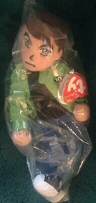 TY Beanie Ben 10 Plush Soft Toy TV Cartoon Network Figure Doll Green Jacket  • 10£