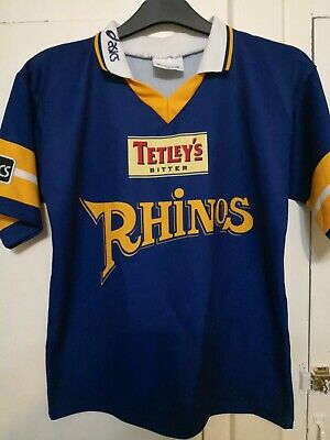Leeds Rhinos Rugby League Shirt  Jersey Maglia Adult Size S • 14.99£