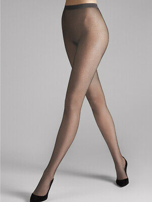 Wolford | Twenties | Fishnet Tights In Anthracite ~ Rare Color ~ Size XS #11889 • 34.35£