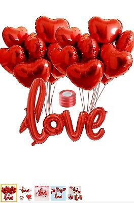 £2.90 • Buy 18  Red Heart Foil Helium Balloon (Engagement- Wedding-Party Table Decorations)