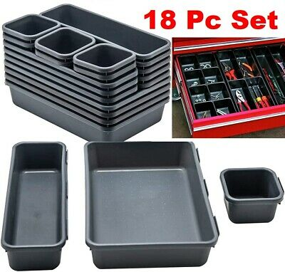 View Details Toolbox Drawer Organizer Tray Set Rolling Tool Box Cabinet Dividers Storage Bins • 21.99$