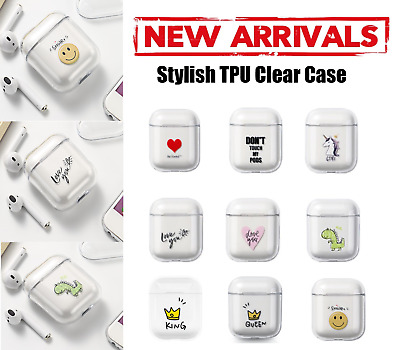 AU7.99 • Buy Shockproof Clear TPU Case Cover Cute Animation Transparent Skin For AirPods 1, 2