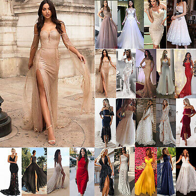 AU28.39 • Buy Womens Evening Party Maxi Dress Cocktail Wedding Formal Prom Ball Gown Dresses