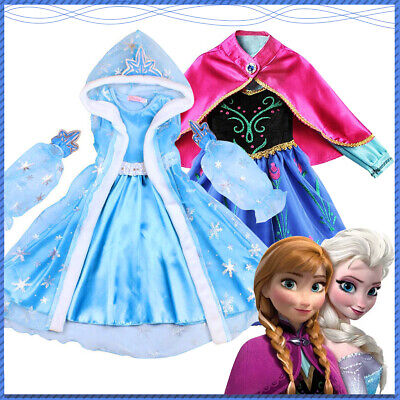 £11.99 • Buy Kids Girls Princess Fancy Dress Up Costume Party Cosplay Outfit Birthday Gift UK
