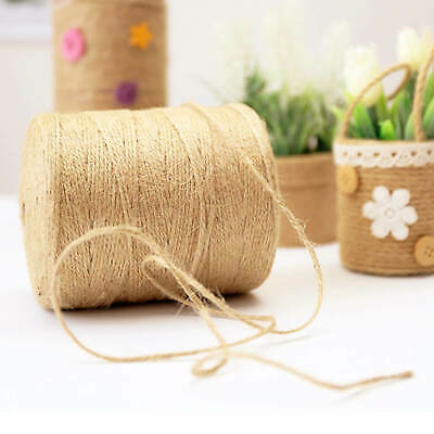 £6.09 • Buy 200m 3 Ply Natural Brown Soft Jute Twine Sisal String Rustic Cord  Shabby