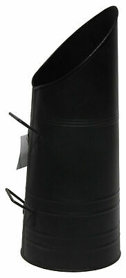 Black Coal Hod Scuttle Bucket Heavy Duty Metal Fireside Fireplace Logs Ash Tidy • 14.79£