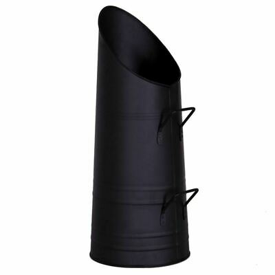 Coal Hod Black Fireside Fire Fuel Bin Scuttle Bucket Handles UK SELLER UK STOCK • 14.79£