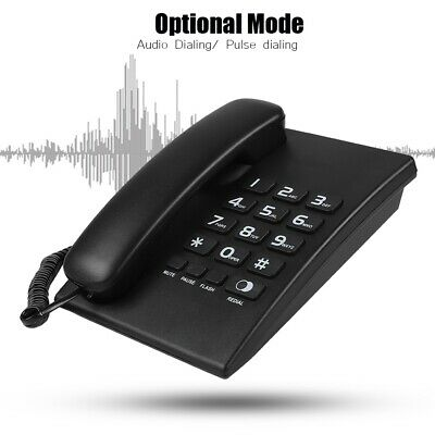 Home Desk Corded Wall Mount Landline Phone Telephone Handset LCD With Caller ID • 14.54£