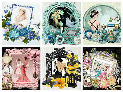 £2.90 • Buy CANARY ART DECO TOPPERS Card Making Toppers, Card Toppers (12)