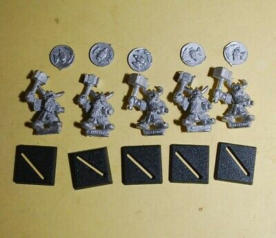 £10.95 • Buy Harlequin Miniatures - Dwarf - 5x Warriors W/Hammer And Shields, Miners