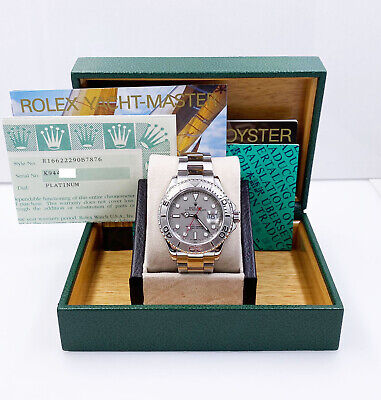 $ CDN11131.83 • Buy Rolex Yacht Master 16622 Platinum Stainless Steel Box Papers