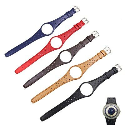 £19.99 • Buy Men's Leather Black/Brown/Blue/Red/Tan Brown Strap/ Band For Omega Dynamic Watch