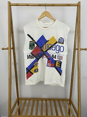 £19.60 • Buy VTG 1994 World Cup USA Chicago Double Sided Big Graphic T-Shirt Size L