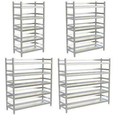 £99.95 • Buy Stainless Steel Kitchen Shelving Unit 4/5 Tier Storage Rack Commercial Catering