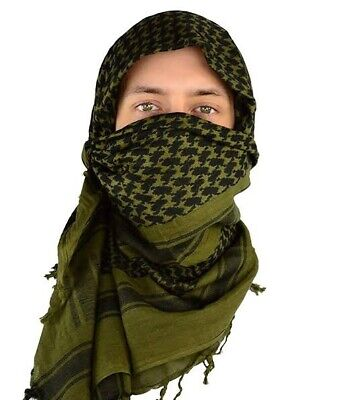 $9.49 • Buy Shemagh Military Army Tactical Scarves Desert Dark Olive Black Scarf Heavyw