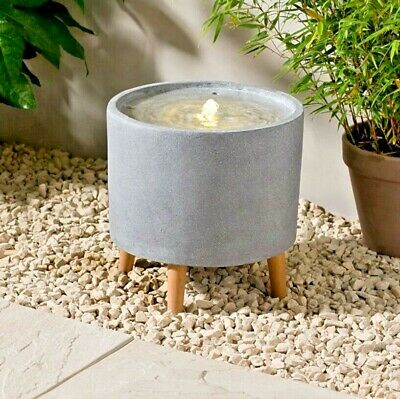 £79.99 • Buy Outdoor Indoor Circular Round Stone Effect Water Fountain Feature + LED Lights