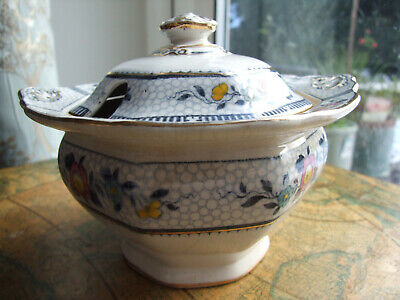 £4 • Buy Small Antique Pottery Burleigh Ware, Burgess & Leigh 'Premier' Lidded Tureen