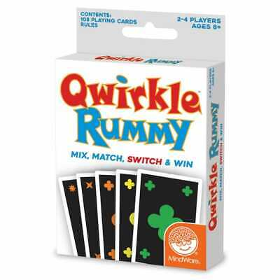 $ CDN12.30 • Buy Qwirkle Rummy Card Game Mix Match Switch & Win From Mindware 108 Playing Cards