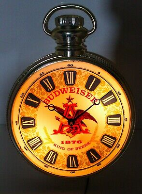 $ CDN189.33 • Buy Vintage**rare** Budweiser Beer 1876 Lighted Clock Bar Sign 100 Year Anniversary