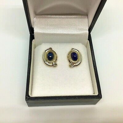 AU70 • Buy Solid 8ct Gold 333 Stud EARRINGS With Blue & White SAPPHIRES..Gorgeous...
