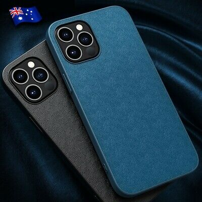 AU7.95 • Buy For Apple IPhone 12 11 X Pro Max Mini Slim Leather Bumper Phone Case Back Cover