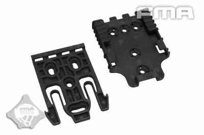 $ CDN46.99 • Buy FMA Airsoft Quick Locking System Safariland Holster QLS  Kit Tb1042-Bk 5Pcs Item