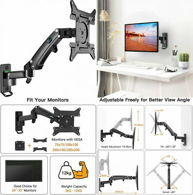 """HUANUO 24 -35"""" LED LCD Monitor Wall Mount, Single Arm 360° Rotable...  • 54.54£"""