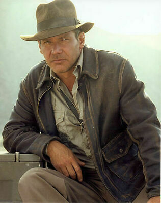 £87.76 • Buy Indiana Jones Harrison Ford Classic Genuine Cow Hide Distressed Leather Jacket