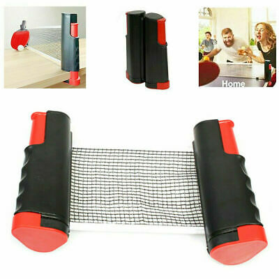 Portable Retractable Table Tennis Net Kit Ping Pong Games Replacement Set • 10.59£