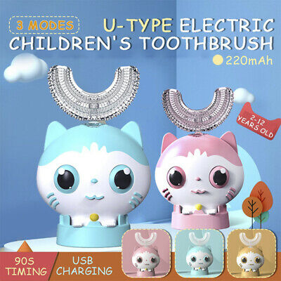 AU23.99 • Buy Children U-Shaped Kids Automatic Toothbrush Automatic 360°Electric ToothBrush