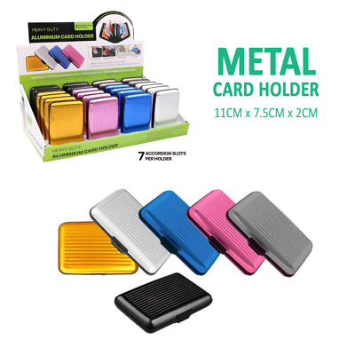 AU4.97 • Buy Metal Credit Cards Holder 7 Slots Wallet ID Protector Box Case RFID Blocking
