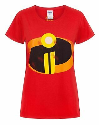 The Incredibles 2 Logo Women's Ladies Costume Red T-Shirt Top • 12.99£